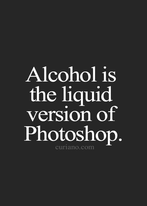 alcohol photoshop